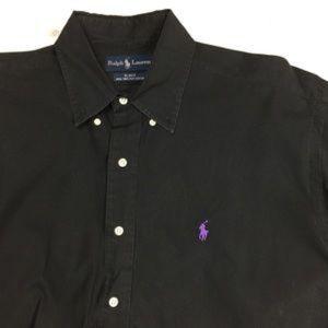 Ralph Lauren polo purple horse button up